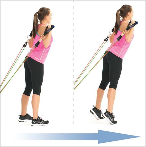 تمرین-با-کش-ورزشی-در-خانه-کشش-ایستاده-ساق-دو-پا