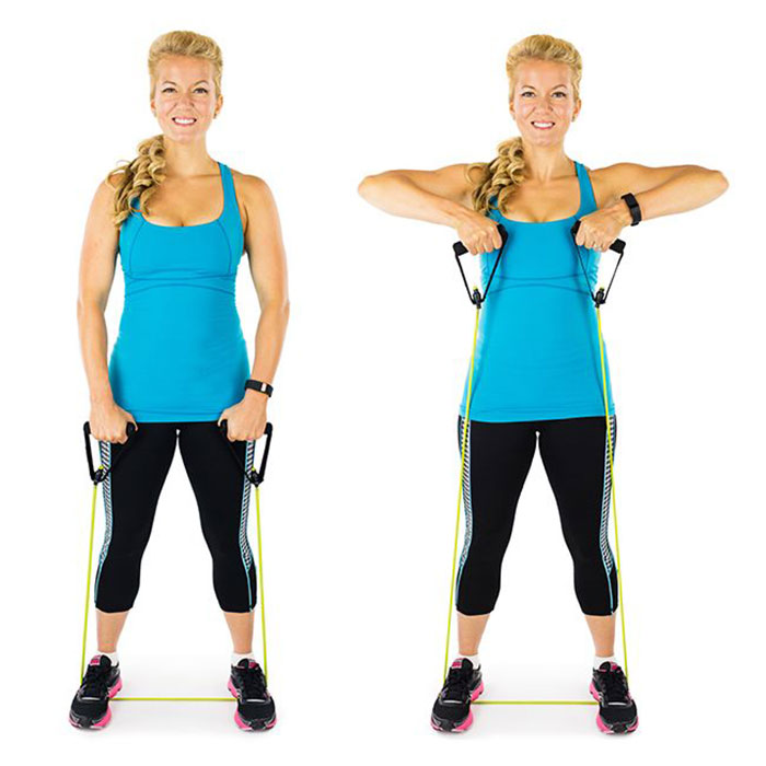 تمرین-با-کش-بدنسازی-برای-تقویت-عضلات-بازو-حرکت-به-سمت-بالا