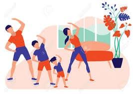 ورزش صبحگاهی در خانه