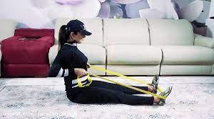 حرکات پشت با کش ورزشی